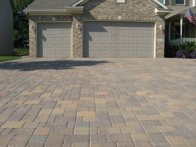 Paver Driveway Construction, Kleinberg Landscaping